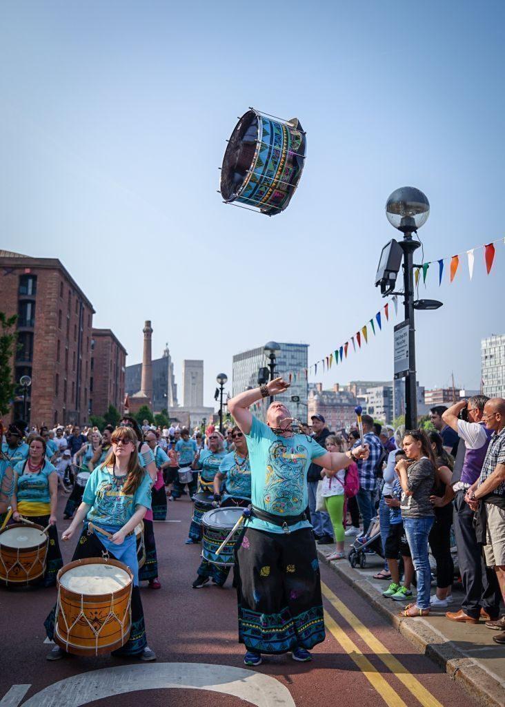 Katumba drum throwing and spinning