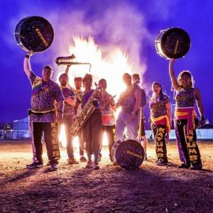 Live Drum and Brass band play Soundcity 2017
