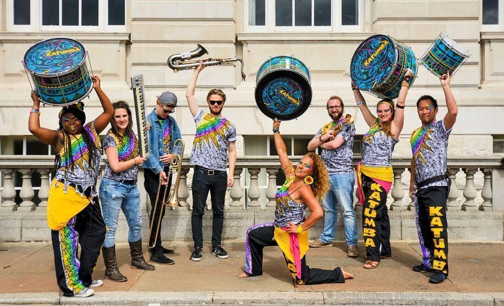 UK live drum and bass band, Katumba Drum and Brass