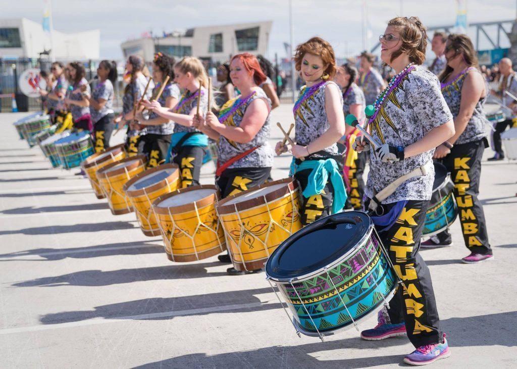 UK community drum and dance group, Katumba