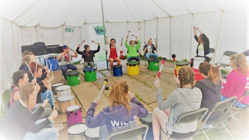 Katumba drumming workshop with young people in Liverpool