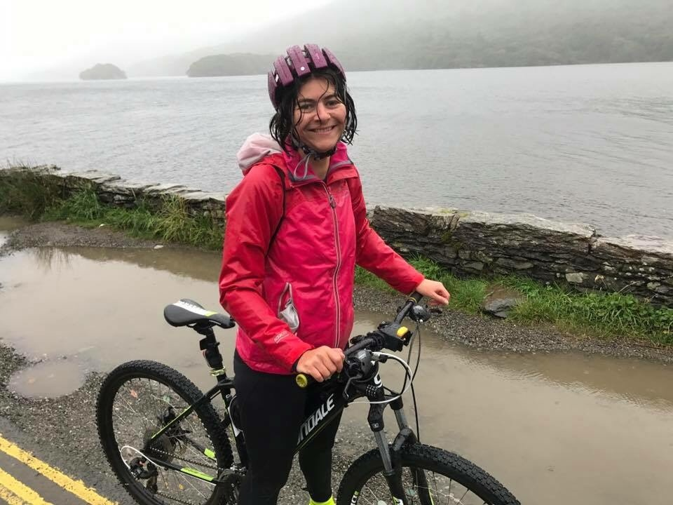 Jane on Sponsored Bike Ride for Katumba