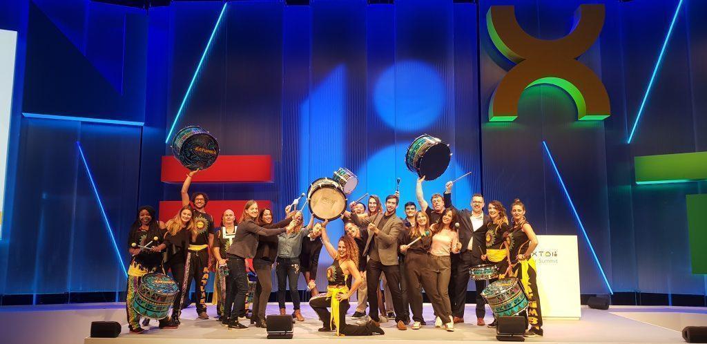 drumming band katumba at google conference