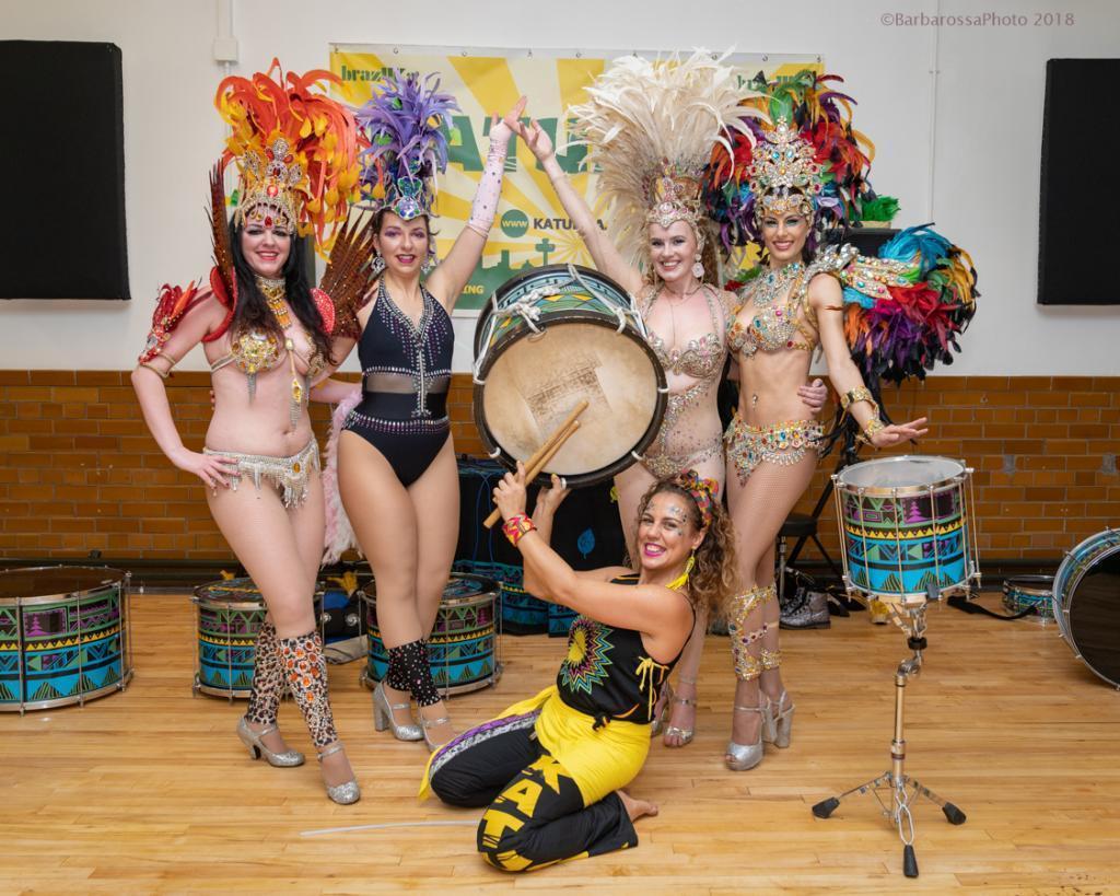 carnival rummer samba dancers