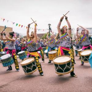International Womens Day Liverpool Katumba drummers