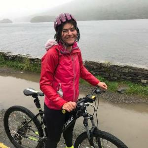 Jane on Sponsored Bike Ride for Katumba