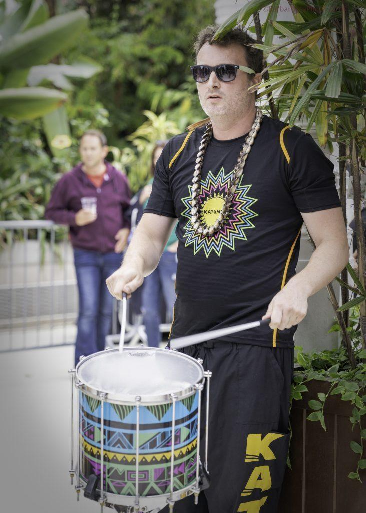 male carnival drummer greenhouse
